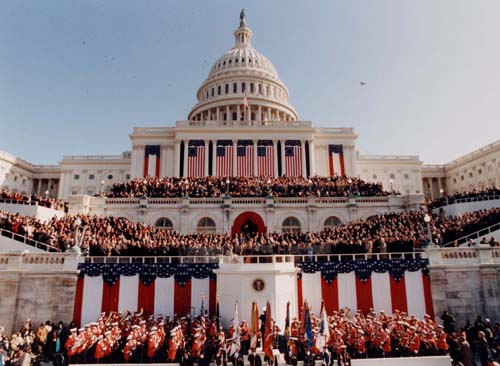 The 1997 inauguration for First president to be inaugurated on january 20