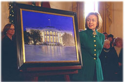 Mrs. Clinton in the East Room