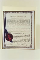 PHOTO: Genetics Patent Certificate
