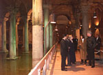 The First Family tours the Palace Cistern, a huge underground storage tank built in the 6th Century.