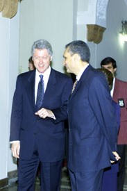 President Clinton meets with Bulgaria's Prime Minister Ivan Kostov at the Prime Minister's Office.