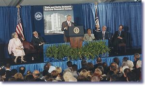 Dedication ceremony for the new Dale and Betty Bumpers Vaccine Research Center at the NIH